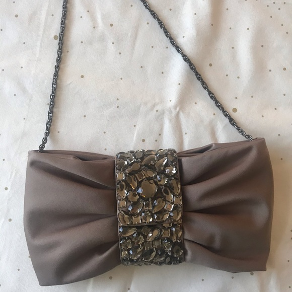 Banana republic bejeweled glam shoulder bow bag